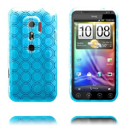 Amazona (Vaaleansininen) HTC Evo 3D Silikonisuojus