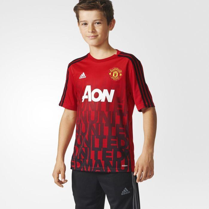 adidas Manchester United FC Home Pre-Match Shirt - Kids Soccer Jerseys