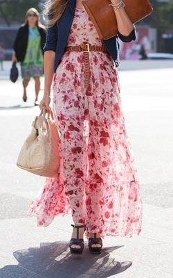 fleur: Floral Maxi, Maxi Dresses, Fashion, Street Style, Maxis, Spring Summer, Street Styles, Maxidress