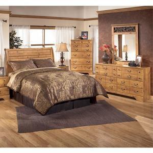 Nebraska furniture mart ashley 4 piece king bedroom set for Furniture mart bedroom sets