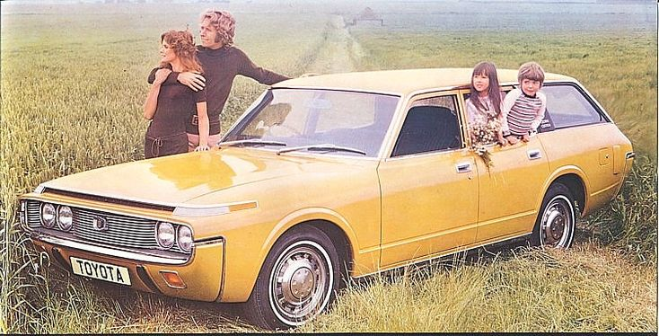 Toyota Crown MS63 Custom Wagon - 1971 ad from either the U.S, Finland, or Australian/New Zealand market