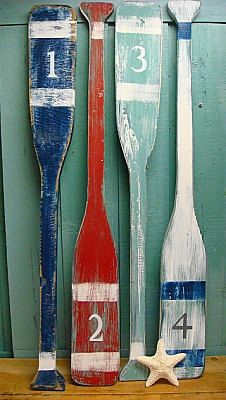 Oars Sign Number Letter Sign Wall Art Nautical by CastawaysHall