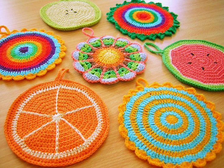 Agarradera-Posapava - Crochet, $60 en http://ofeliafeliz.com.ar
