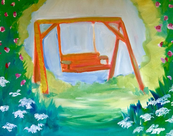 Summer Swing Daydreams. Created for Paint Nite by Katana Leigh DuFour
