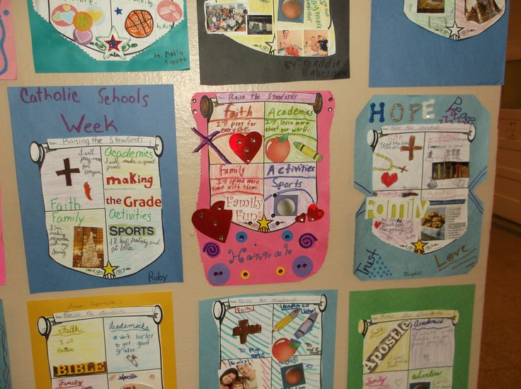 shields of faith for Catholic Schools Week  (use this year's theme:  Faith, Knowledge, Service)
