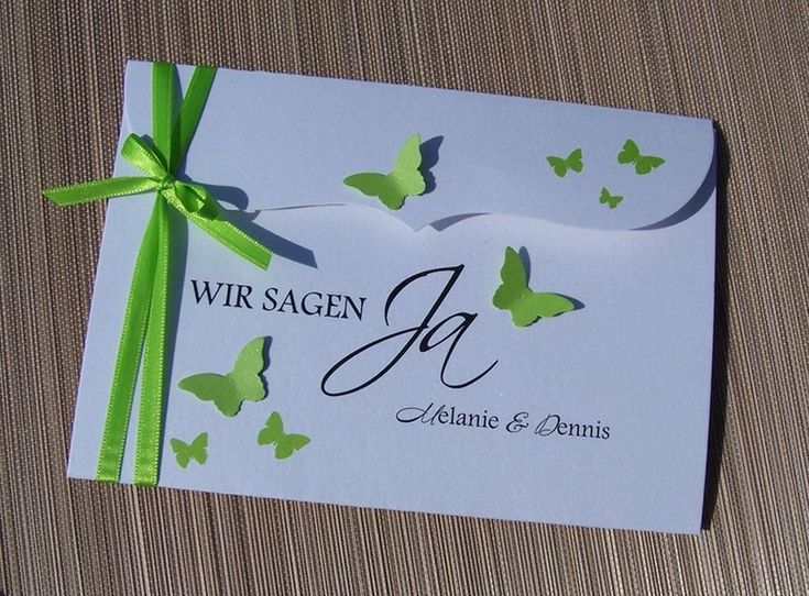 besondere Hochzeitseinladung Schmetterlingsschwarm von Kartenmanufaktur Arndt auf DaWanda.com