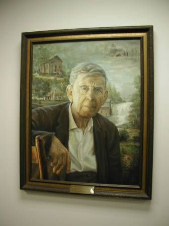 Wilkes Community College Learning Resource Center, 2003. From the NC Digital Collections : Cultural Heritage Institutions of North Carolina, NC ECHO Project. Portrait of James Larkin Pearson, North Carolina Poet Laureate and Wilkes County native. ^mcu