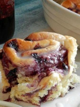 Blueberry Sweet Rolls with Lemon Glaze