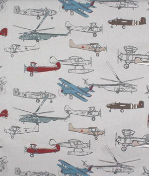Premier Prints Vintage Air Pewter Natural Fabric for plane/ traveler themed birthday party or bedroom  - $10.98 | onlinefabricstore.net