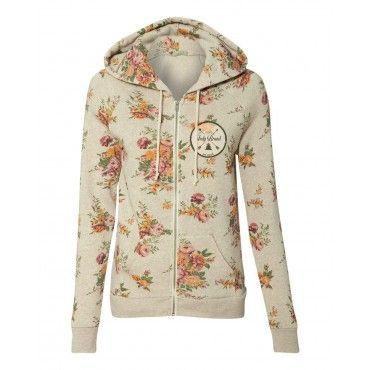 The Patch Floral Women's Zip-Up Hoodie Women's