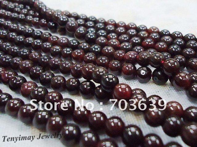 5 Strands ( 65 шт. / strand ) 6 мм бордо гранат свободный бусины браслет шарма diy, Природа вино красный гранат бусины бесплатная доставка