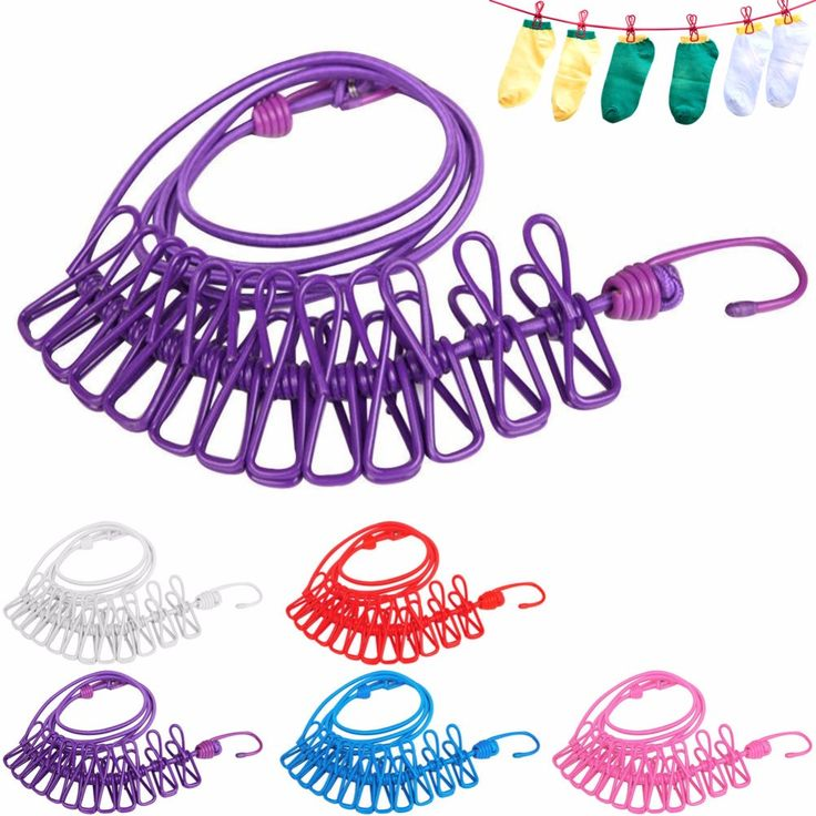 >> Click to Buy << 174cm Portable Cloth Hangers Hotselling Multifunctional Drying Rack +12pcs Clips For Outdoor Clothes Line Pegs Clothespins #Affiliate