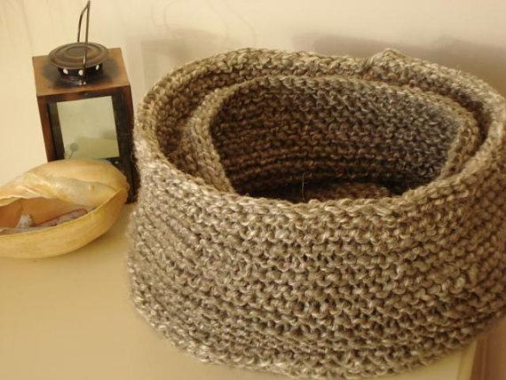 Linen rope baskets