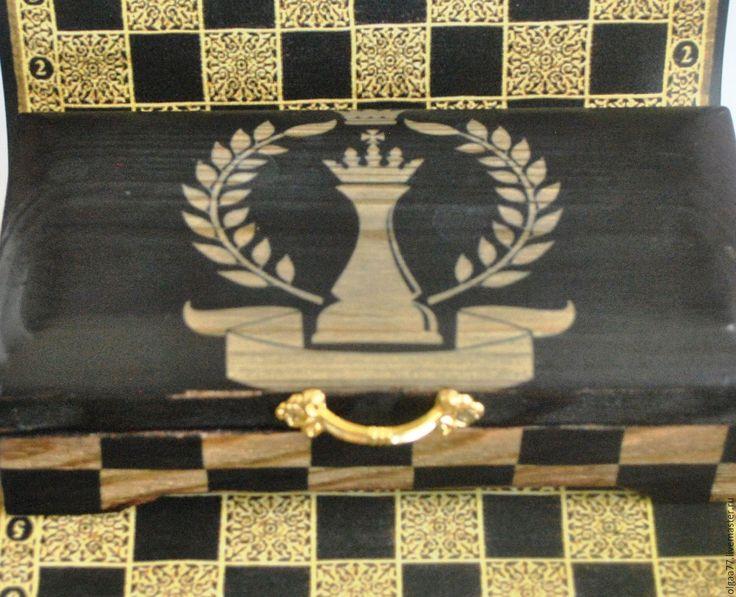Купить Купюрница Белая Королева - черный, золотой, шахматы, шахматные фигуры, королева, ферзь, шкатулка для денег