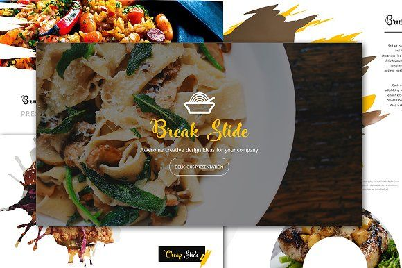 Cheap Delicious Powerpoint Template by Infinity_Vector on @creativemarket