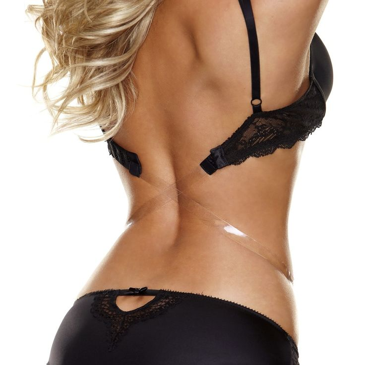 Hollywood Curves The Down Low - Bra Strap Converter - Black.  $7.99