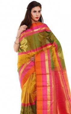 Kanchipuram Silk And Cotton Sarees For Wedding - Sudarshan Silks Kanchipuram Silk Sarees In Bangalore - Sudarshan Silks - Multicolor, Color Multicolor