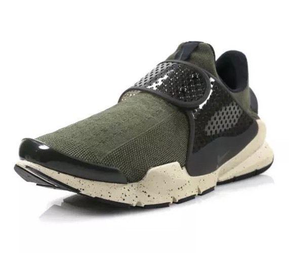 Mens Nike Sock Dart Cargo Khaki SZ 11 Cargo Khaki/Black-Rattan 819686-300
