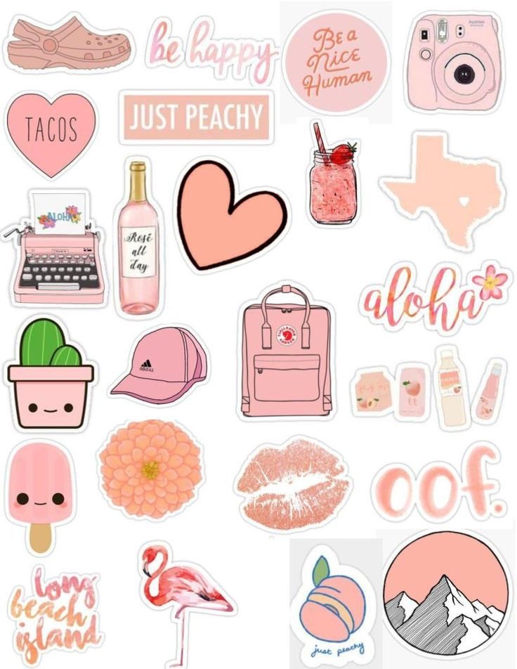 Peach Tumblr Sticker Pack Aesthetic, Cute, Edits, Overlays -6385