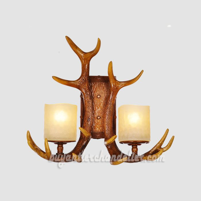 lamps bed antler lights on sconce light from resin wall home lamp sconces diamond lighting deer item modern decoration in head horn