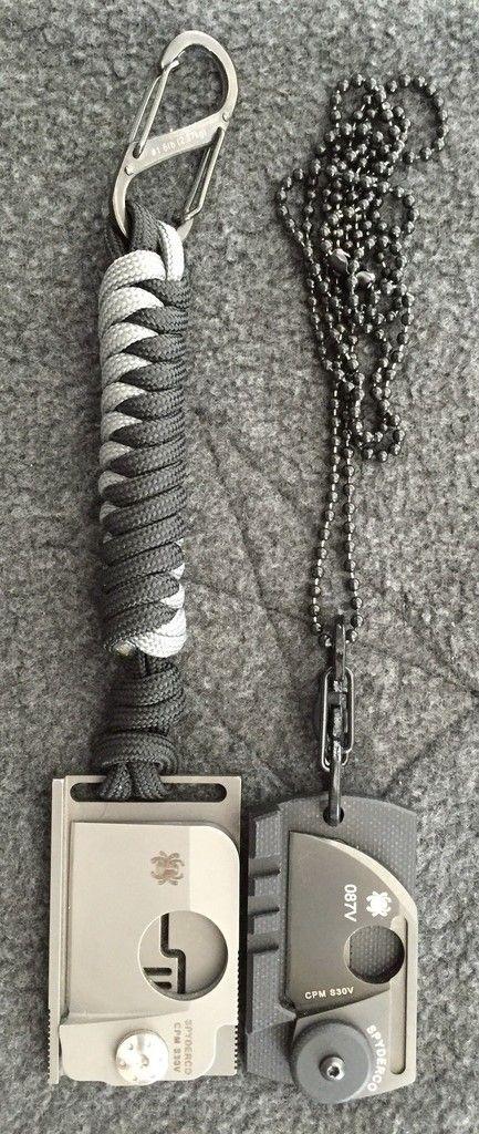 Spyderco C188ALTIBBKP Dog Tag Folding Knife, Black, 1.23-Inc