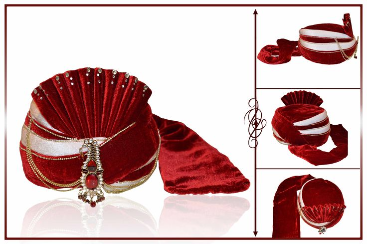 Designed With Simplicity With A Touch Of Soberness In Its Work Makes A Master Piece. Stand Out From Rest With This Maroon Velvet Turban . This Attire Is Encrafted With Brooch  SHOP NOW @ http://www.JivaFashion.com