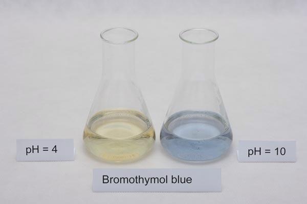 Bromothymol blue (Colorimetric titration)