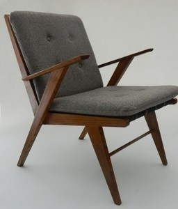 Mid-century Modern Lounge Chair in the Manner of Jens Risom, from Switzerland | eBay
