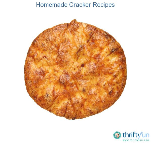 This page contains homemade cracker recipes. Making your own crackers allows you to experiment with types and flavors and allows you to choose recipes that fit your dietary needs or restrictions.