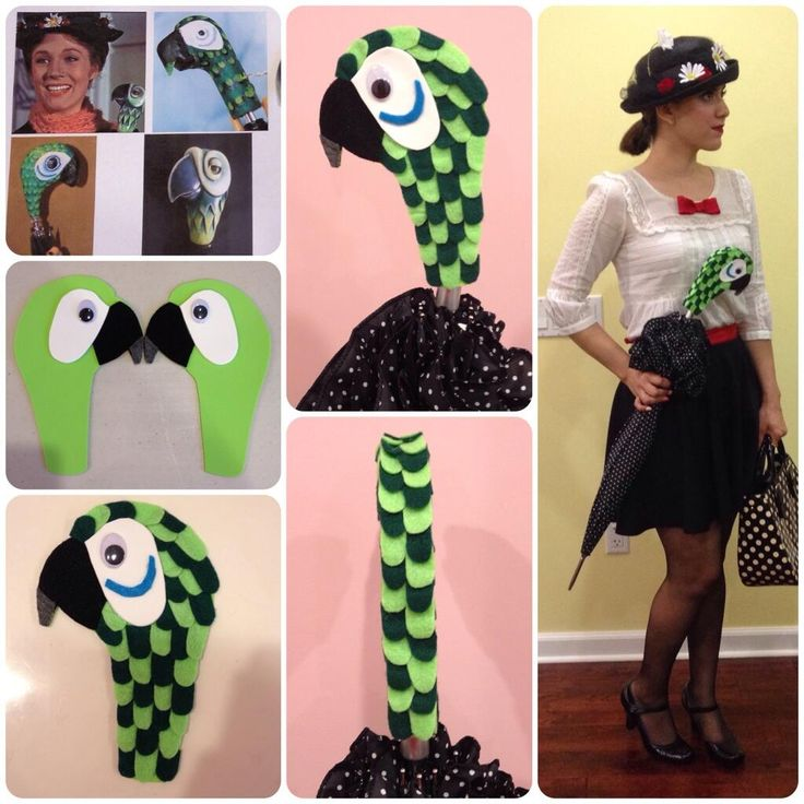 DIY felt parrot umbrella mary poppins