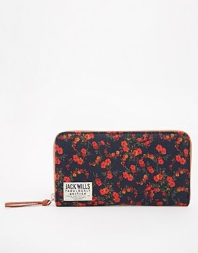 Jack Wills Coin Purse with Ditsy Floral Print
