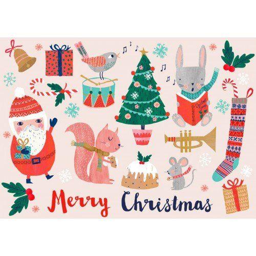 Psikhouvanjou, Rebecca Jones postcard Merry Christmas - Sunday in color