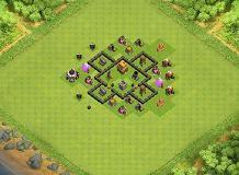 Pedrinho hibrid TH 4 Clash of Clans Base Layout