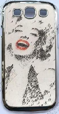Red Lipped Marilyn Monroe Chrome Plated Cell Phone Cover for Sumsung Galaxy S3 SIII I9300Craig Alan, Marilyn Monroe, Celebrities Portraits, Marilynmonroe, Alan Craig, Artists Craig, People, Photography, Craigalan