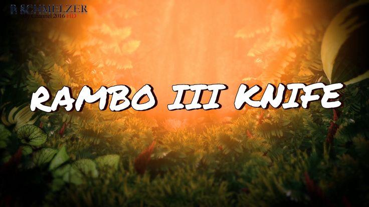 Das Rambo 3 ist eine exakte Reproduktion des Messers von Sylvester Stallone aus seinem Kult Action-Film, mit einer hochwertigen Büffelleder Lederscheide . 46 cm  998 g