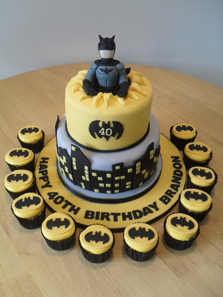 Batman Cake Birthday Party Ideas