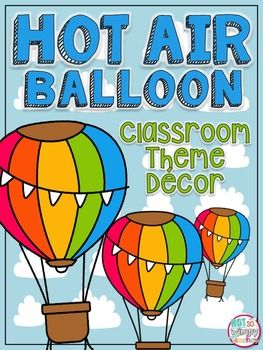 This bundle includes everything you will need to decorate and organize a classroom with bright colors and a fun hot air balloon theme.Included:Student Binder CoverDesk Name Tags (8 different designs)Classroom Rules *Behavior Clip Chart *Classroom Jobs *Class Schedule with Subject Cards *Large Supply Labels *Small Supply Labels *Math Manipulative Labels *MonthsDays of the WeekSmall Number 1-36Teacher Binder Covers (lesson plans, student data, sub plans) *Alphabet (for bulletin boards titles…