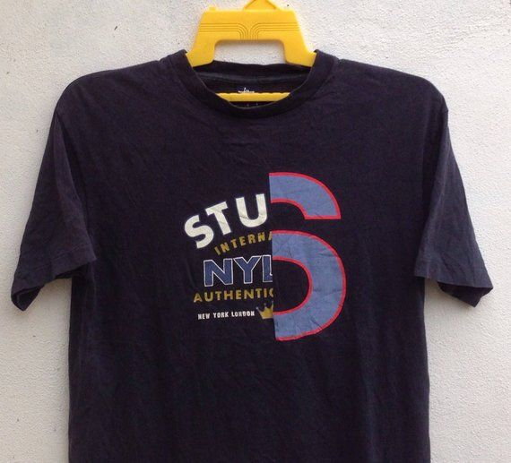 9a79672c73b6 Vintage 90s Stussy T Shirt Skateboard Street Wear Spell Out Tee Size ...