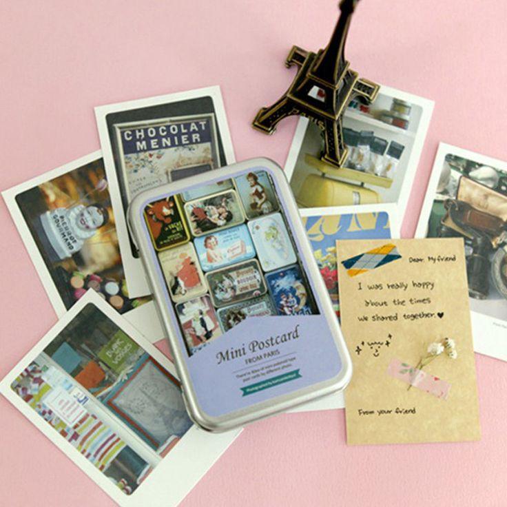 "Paris Instax Mini Photo Card 2.17"" x 3.35"" 40 Sheets per Tin Thank You Card"