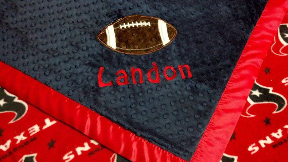 Personalized Houston Texans Football Fleece and by TreasuredMinky, $57.45