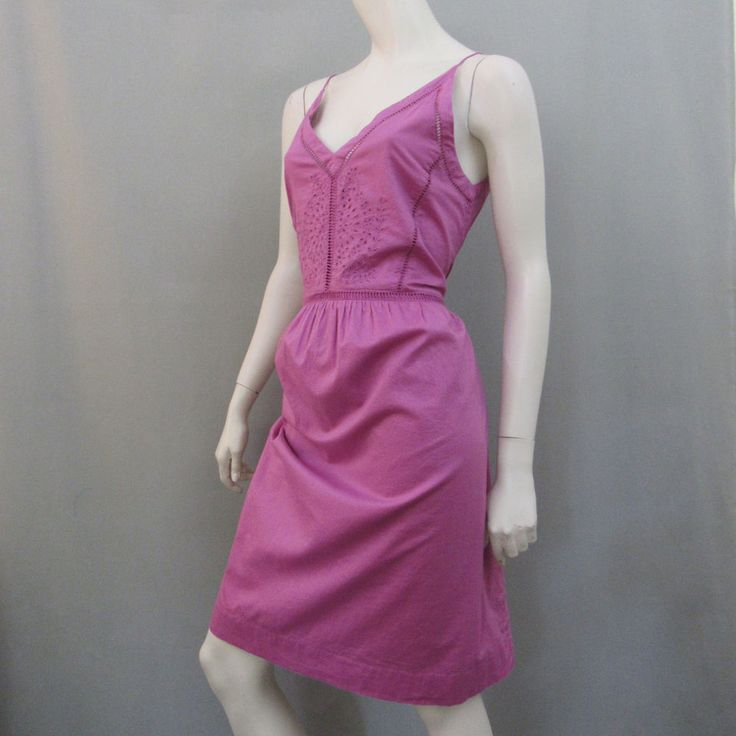 Ann Taylor Loft Dress S Purple Sundress Hippie Festival  #AnnTaylorLOFT #Sundress #Casual