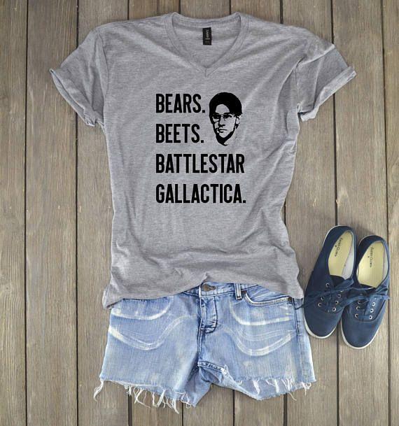 cc85b46ed Dwight Schrute Shirt - Bears Beets Battlestar Gallactica - Schrute Farms -  Office Shirt - Dwight Schrute - Jim Halpert - Unisex Shirt