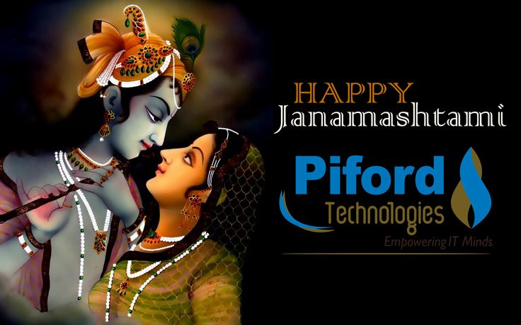 Happy Krishna Janmashtami Wishes to all of you from Piford Technologies #happy #krishna #Janmashtami #Wishes #piford #technologies