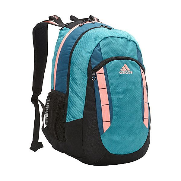 adidas Excel Backpack Laptop Backpack (€31) ❤ liked on Polyvore featuring bags, backpacks, green, laptop backpacks, backpacks bags, blue backpack, shoulder strap backpack and green tea bags