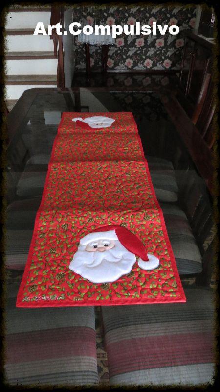 Trilho de mesa Papai Noel                                                       …
