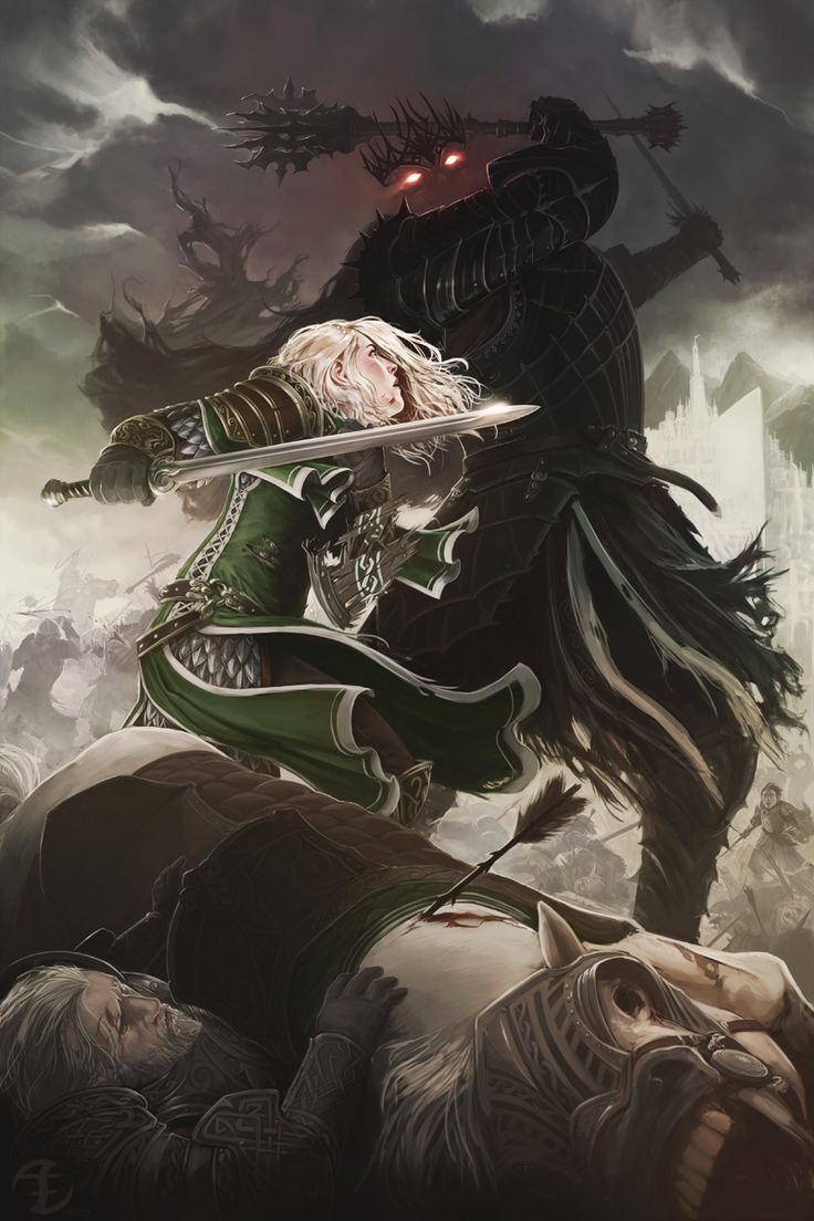 Eowyn vs the Witch King - Lord of the Rings, Art Order