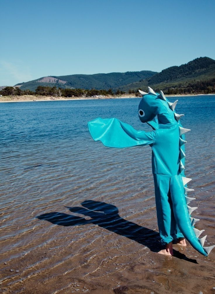 Adult Loch Ness Sea Monster Halloween Nessie Costume ...