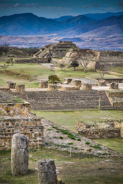 The Mayan Ruins of Monte Albán, Oaxaca, México