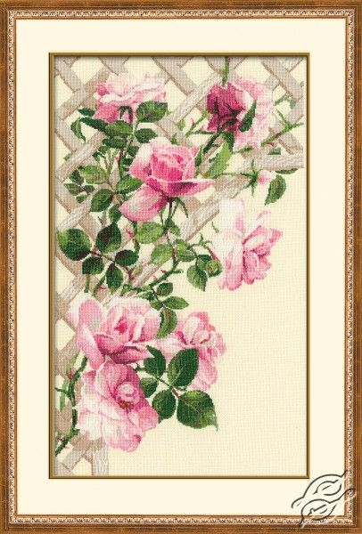 Pink Roses - Cross Stitch Kits by RIOLIS - 898