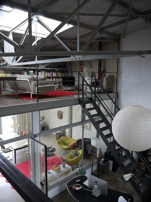 industrial home in the eastern docklands of Amsterdam a painters loft (C) Vosgesparis.blogspot.com IKEA PS Pres event